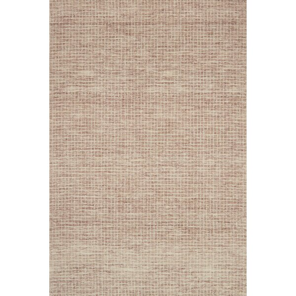 Bourque Hand-Hooked Wool Blush Area Rug by Highland Dunes