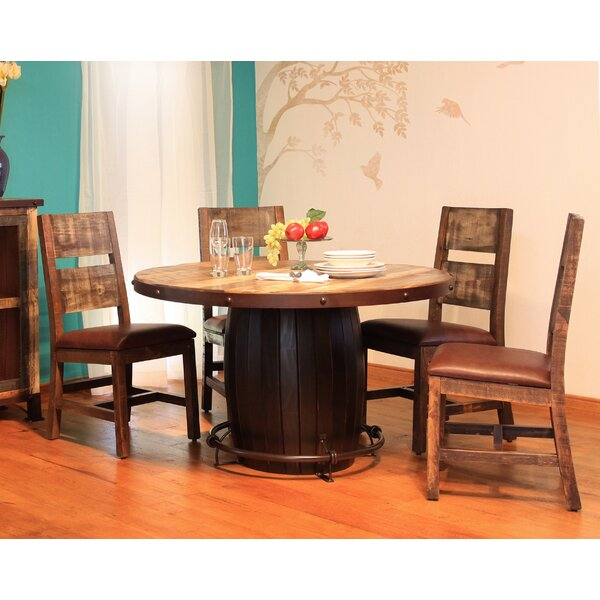 Round 5 Piece Solid Wood Dining Set by Artisan Home Furniture