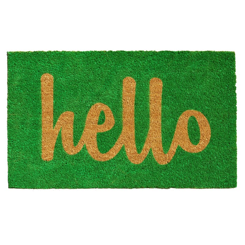Mercury Row Groesbeck Hello Doormat Amp Reviews Wayfair