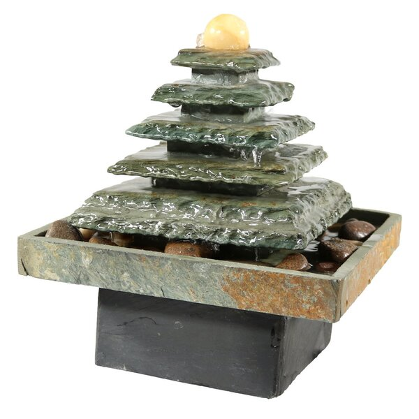 Slate Pyramid Tabletop Water Fountain by Wildon Home ®