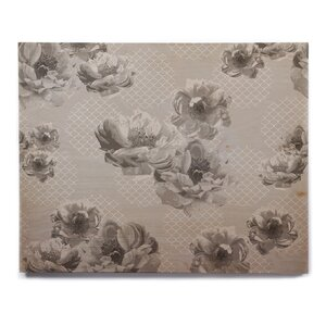 'Lace Peony in Gray' Graphic Art Print on Wood by East Urban Home