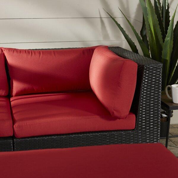 Zoar Patio Corner Seat Chair with Cushion by Breakwater Bay