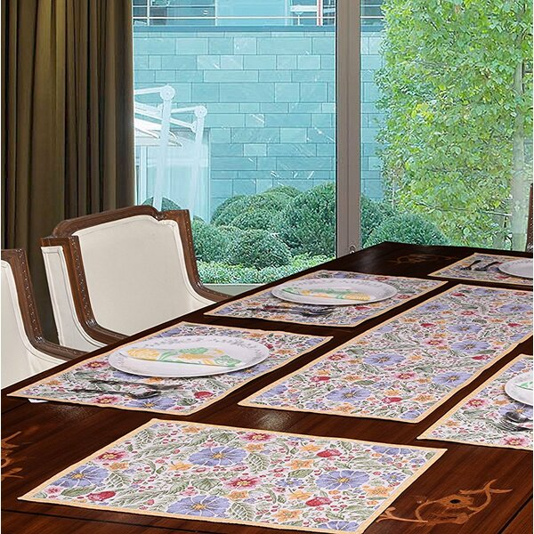 Morison All Over Floral 19 Placemat (Set of 6) by August Grove