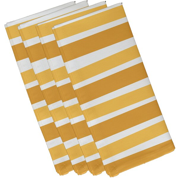 Stripes Print Napkin (Set of 4) by The Holiday Aisle
