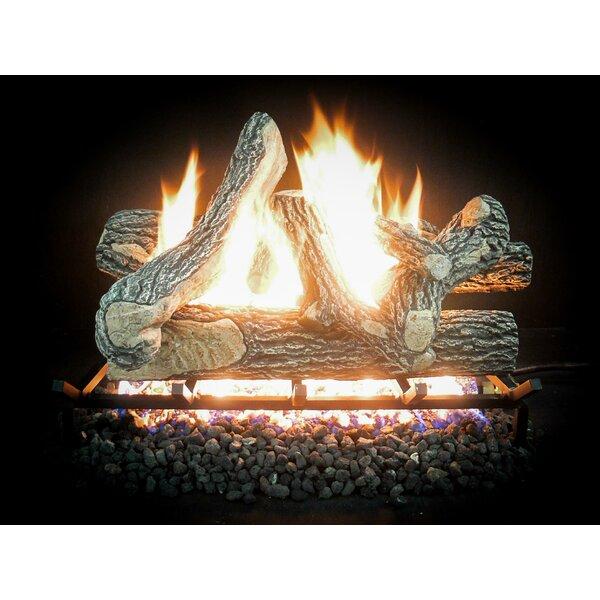 Complete Great Oak Propane Gas Log Kit by Dreffco