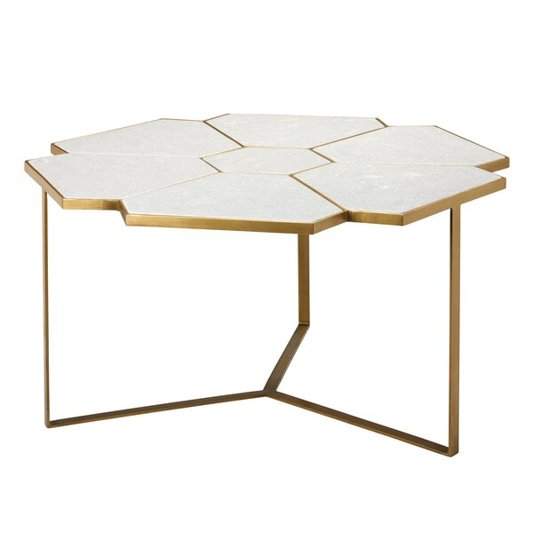 High-End Poulsbo Cross Legs Coffee Table by Everly Quinn