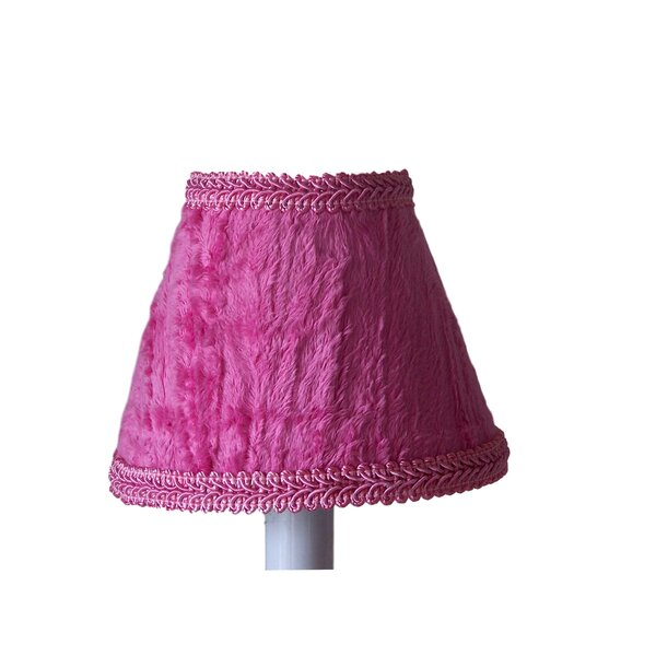 Fairest In The Land 4 H Fabric Empire Candelabra Shade ( Clip On ) in Pink