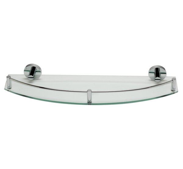 ALFI brand AB9547 Polished Chrome Wall Mounted Glass Shower Shelf Bathroom Accessory by Alfi Brand