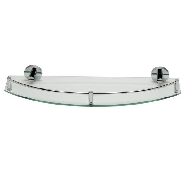 ALFI brand AB9547 Polished Chrome Wall Mounted Glass Shower Shelf Bathroom Accessory by Alfi Brand