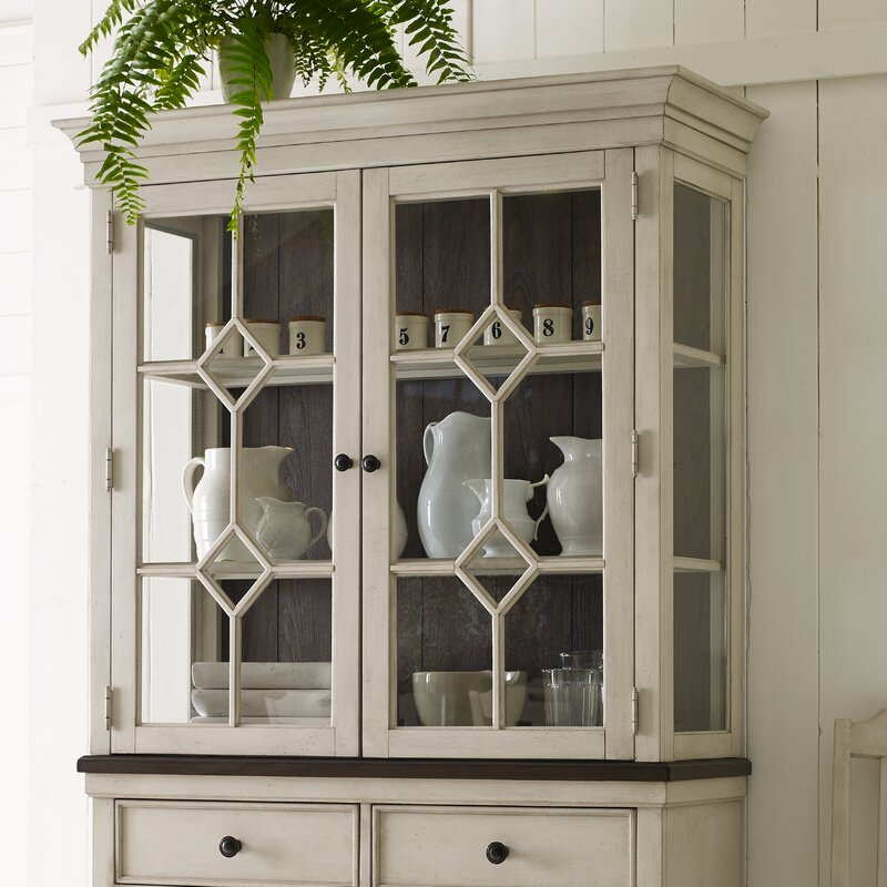 Ornithogale Lighted China Cabinet