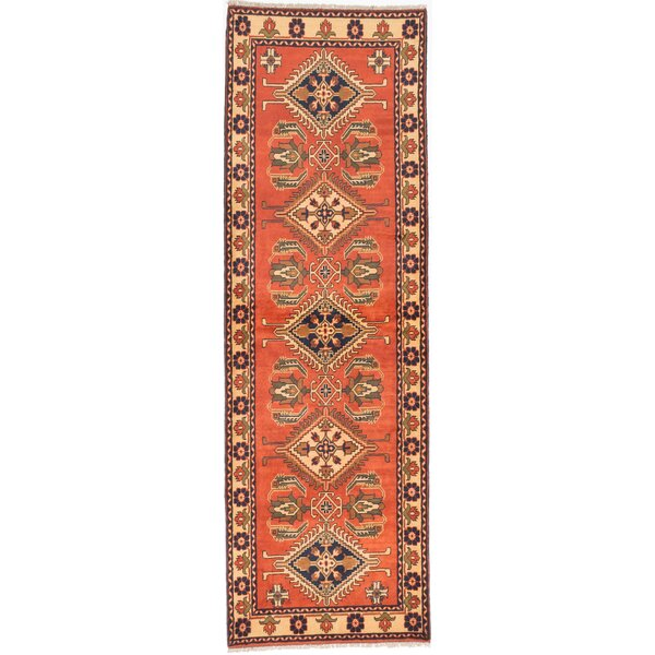 One-of-a-Kind Finest Kargahi Hand-Knotted Copper Area Rug by ECARPETGALLERY