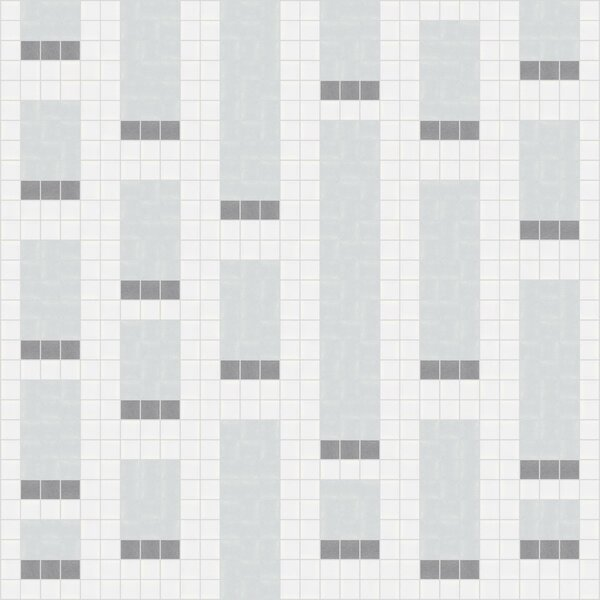 Urban Essentials Genome 3/4 x 3/4 Glass Glossy Mosaic in Calm Grey by Mosaic Loft