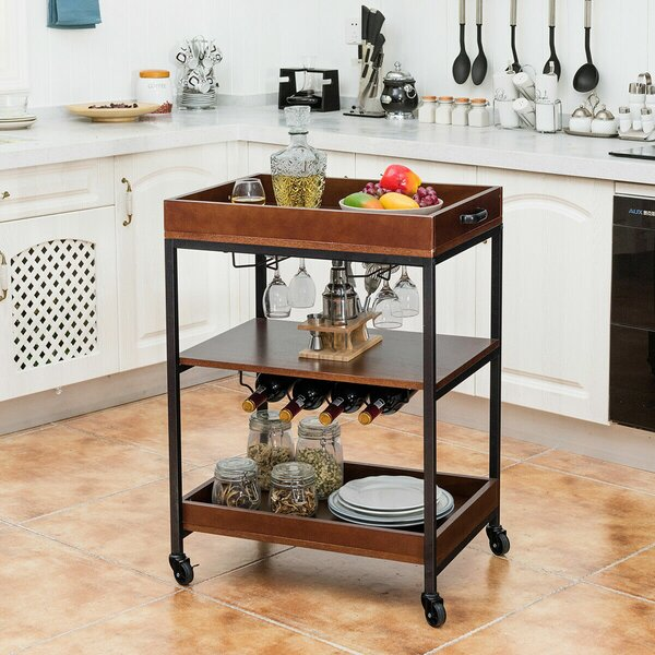 Borum Bar Cart By Winston Porter