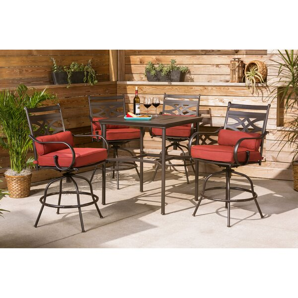 Gehlert 5 Piece Bar Height Dining Set with Cushions by Charlton Home