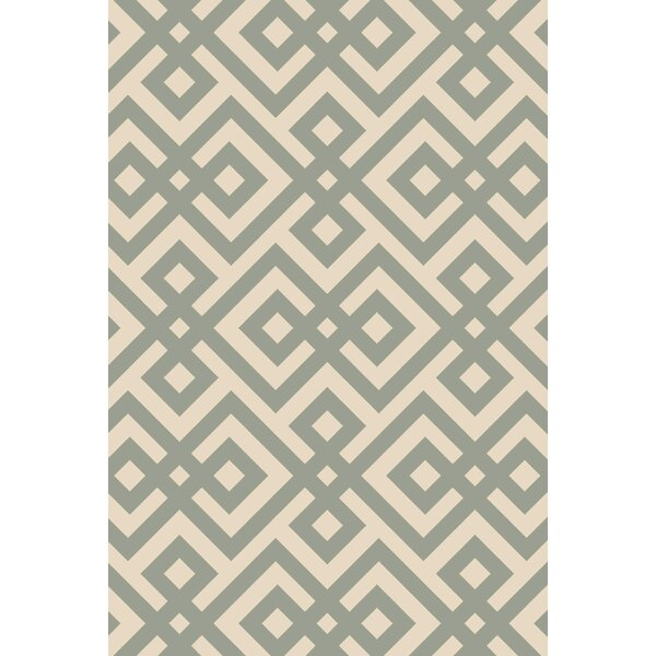 Maggie Hand-Hooked Green Area Rug by Mercer41