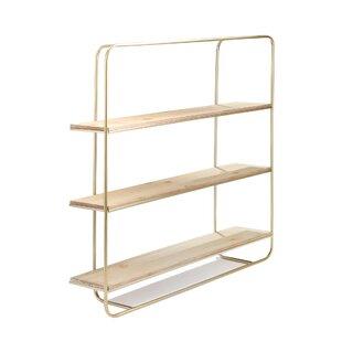 Kean Metal/Wood 3 Tier Wall Shelf
