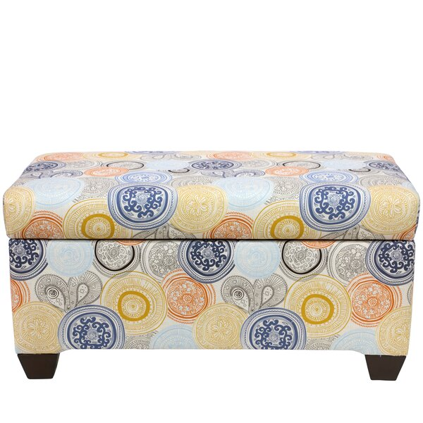 Jacquelyn Linen Upholstered Storage Bench By Latitude Run Savings