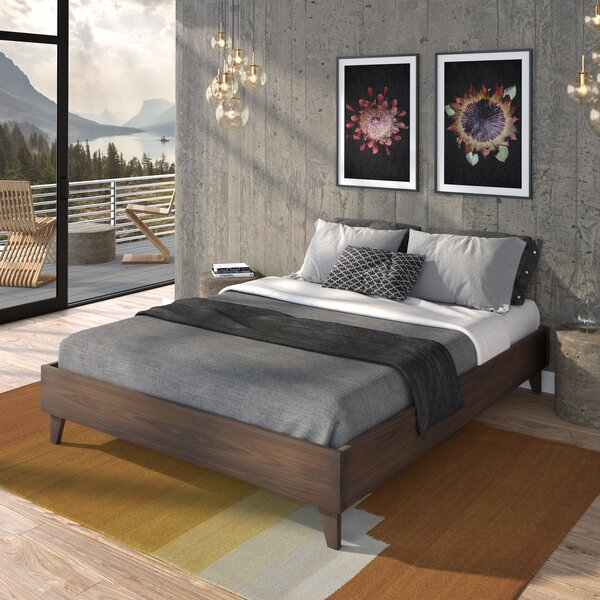 Filey Solid Wood Low Profile Platform Bed by Three Posts Three Posts
