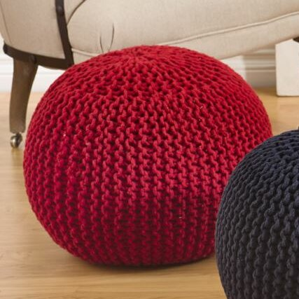 Hanneman Pouf by Mercury Row