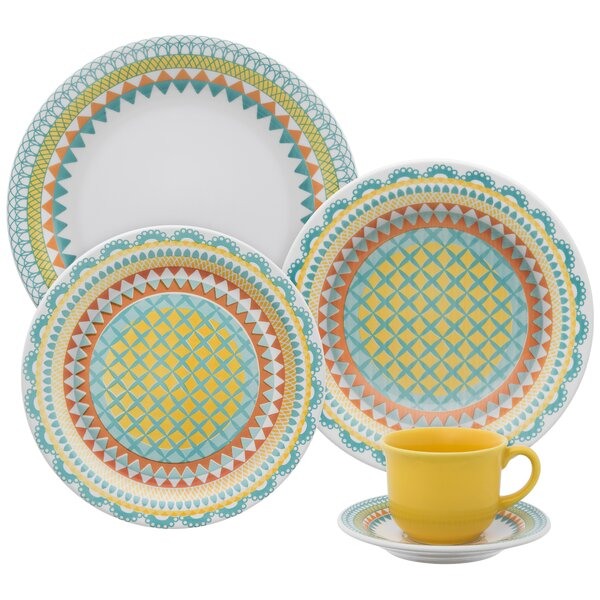 Floral Daily 12 Piece Dinnerware Set, Service for 4 by Oxford Porcelain