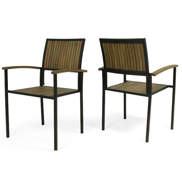 Yuliana Outdoor Patio Dining Chair (Set of 2) by 17 Stories 17 Stories
