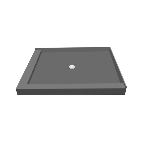 36 x 66 Double Threshold Shower Base with Drain Plate by Tile Redi