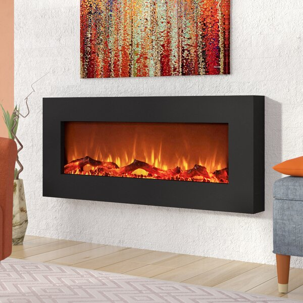 Krish Wall Mounted Electric Fireplace by Wrought Studio