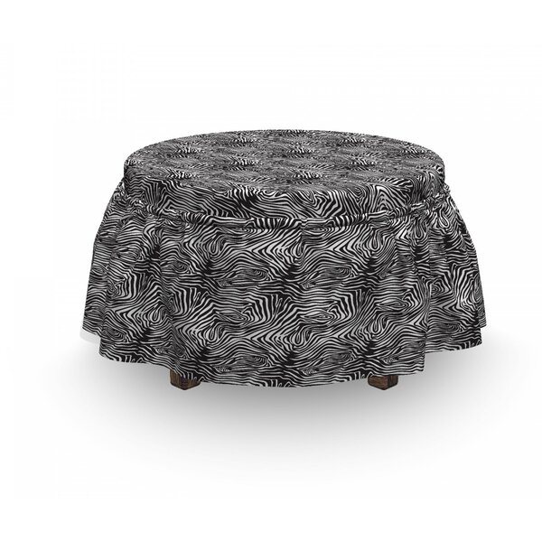 Wild Animal Skin Layout Ottoman Slipcover (Set Of 2) By East Urban Home
