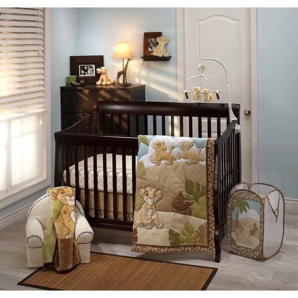 Lion King Urban Jungle Piece Crib Bedding Set by Disney