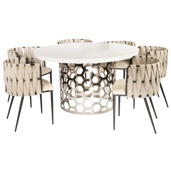 Jess 7 Piece Dining Set by Everly Quinn