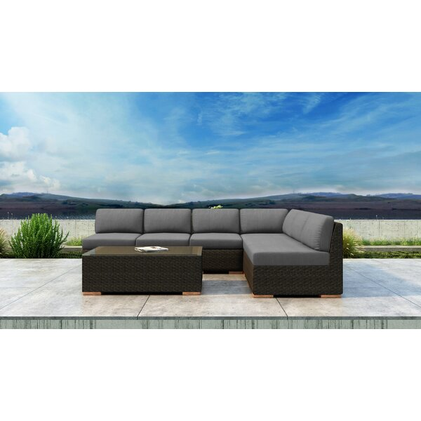 Glen Ellyn 7 Piece Sectional Seating Group with Sunbrella Cushions by Everly Quinn