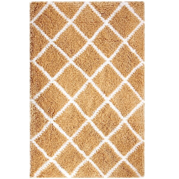 Hand-Woven Beige Area Rug by Affinity Linens