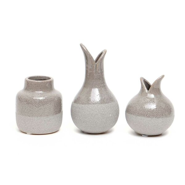 Flanagan Ceramic 3 Piece Table Vase Set by Union Rustic