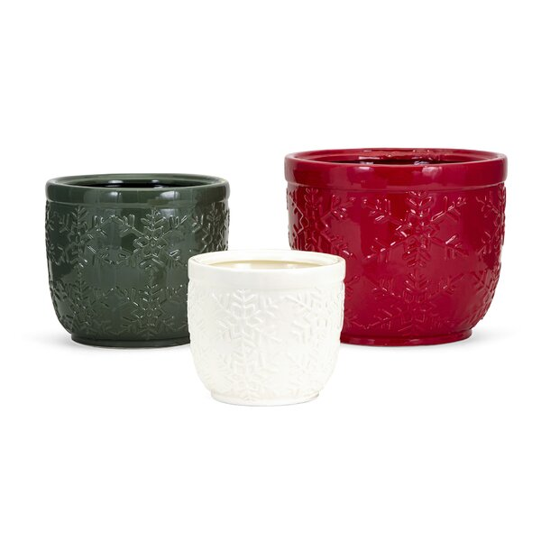 Homestead 3-Piece Ceramic Pot Planter Set by IMAX