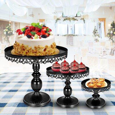 Mentone 3 Piece Cake Stand Set The Party Aisleâ Shefinds