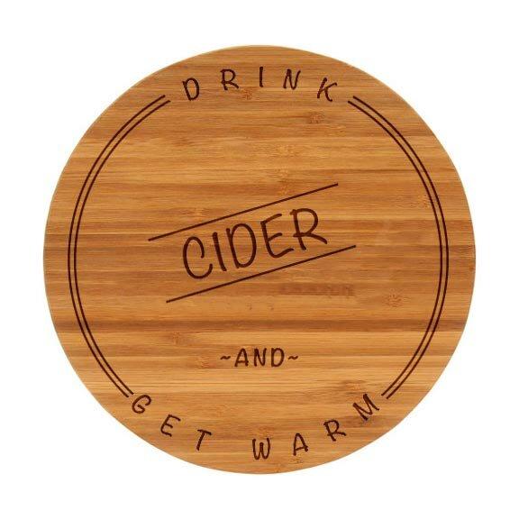 The Cutting Board Company Drink Cider Bamboo Fall Cutting Board Wayfair