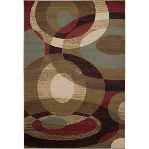 Douglasland Caramel & Tea Leaves Area Rug