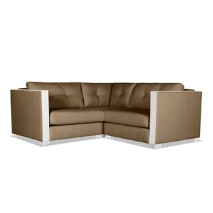 Steffi Buttoned Right and Left Arms L-Shape Mini Modular Sectional