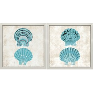 'Under the Sea III and IV' by Sabine Berg 2 Piece Graphic Art Print Set by Star Creations