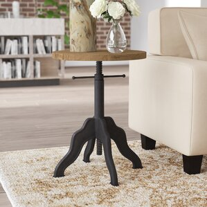 Hayford Round Adjustable End Table by Trent ..