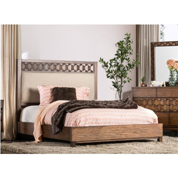 Amirah Upholstered Standard Bed by Bungalow Rose