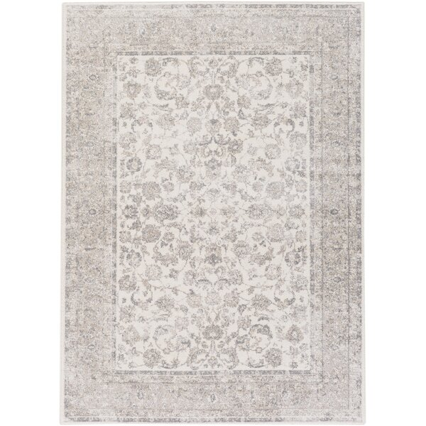 Kimbolton Hand-Woven Ivory/Gray Area Rug by Ophelia & Co.