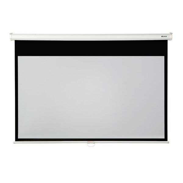 High Contrast Grey 92 diagonal Manual Projection Screen by Loch