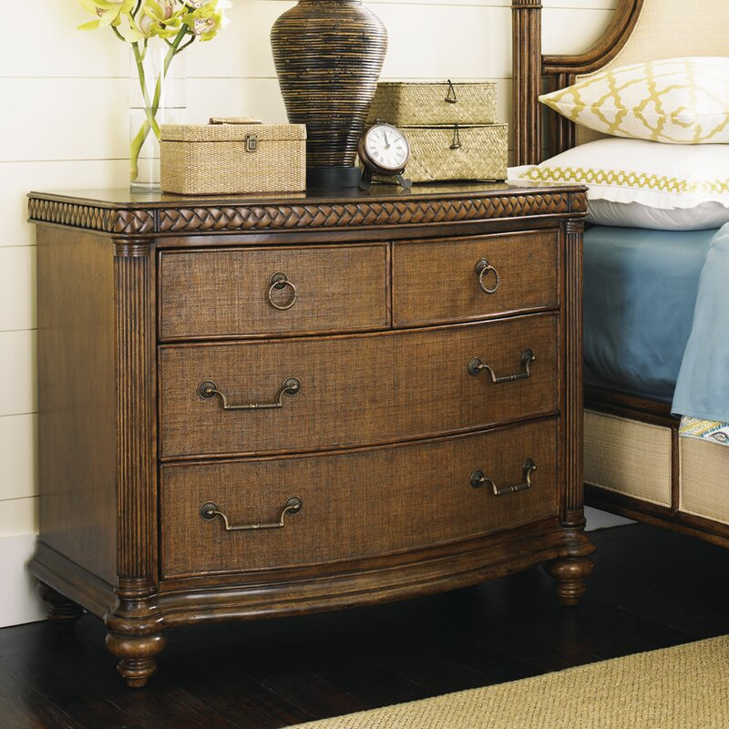 tommy bahama home bali hai 4 drawer nightstand reviews wayfair. Black Bedroom Furniture Sets. Home Design Ideas