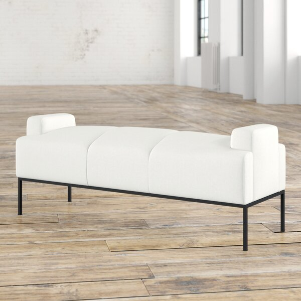 Stickley Faux Leather Bench by Mercury Row Mercury Row