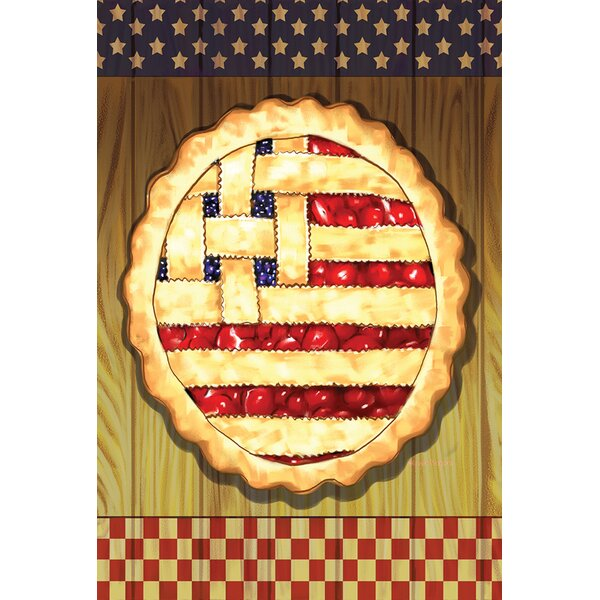 American Lattice Pie 2-Sided Garden flag by Toland Home Garden
