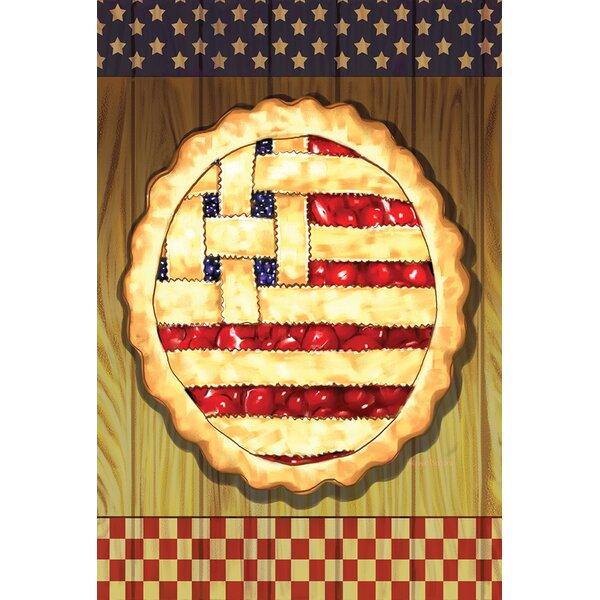 American Lattice Pie 2-Sided Garden flag by Toland Home Garden