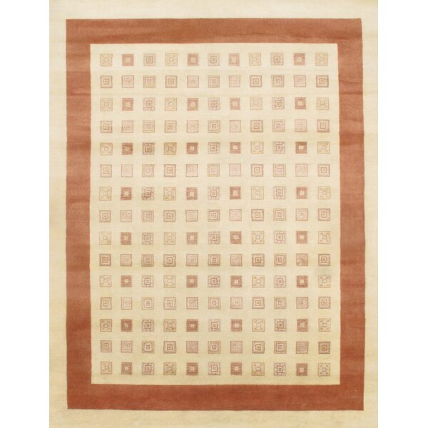 Gabbeh Lori Baft Hand-Knotted Wool Brown/Beige Area Rug by Pasargad NY