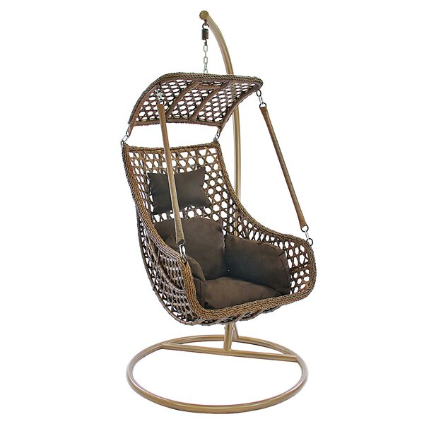 Sherman Tear Drop Swing Chair with Stand by Bayou Breeze