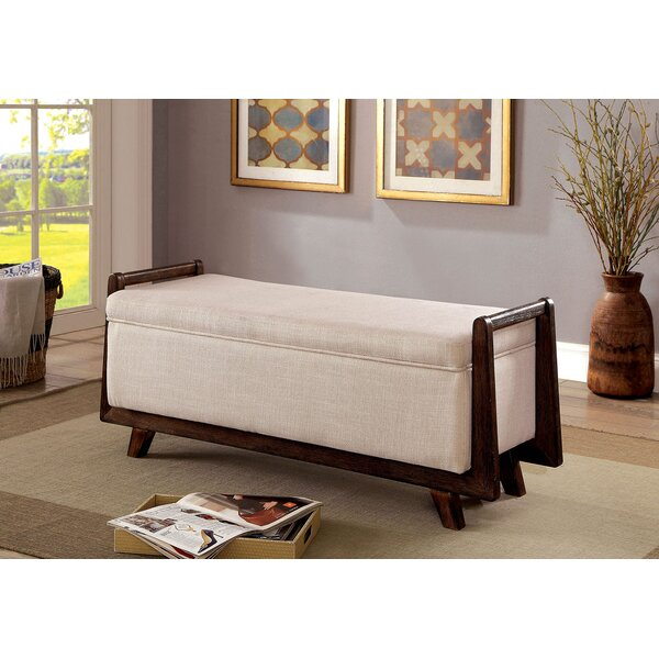 Behm Fabric Wooden Upholstered Storage Bench by George Oliver